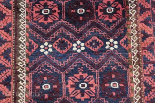 Persian Baluch rug C1890, 212 x 100, Excellent condition