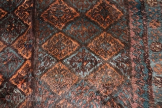 Afghan Baluch Sleeping rug Circa 1920, 208 x 184, Full pile, 2 part