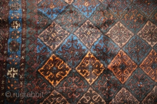 Afghan Julkhyrs rug C1920, 187 x 154, Full pile, 2 strip.