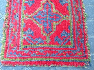 Small rug oushak turkey size:42x34-cm free shipping ask