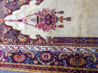 Prayer rug turki silk antiqe size:185x138-cm