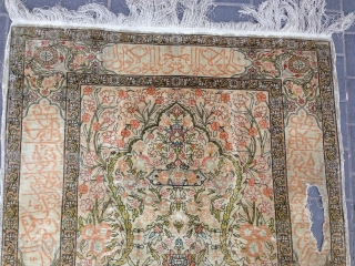 Turki hereke silk size:150x100-cm ask