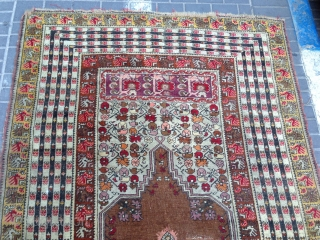 Prayer rug turki mint condishen size:225x140-cm ask