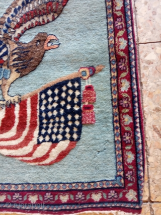 Persian rug size :60x55-cm please ask