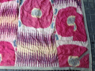 a antique Silk adras Ikat size:183x152-cm ask