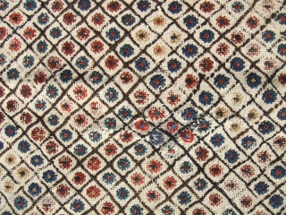Southern Iran, Arab Laberduni kilim,Size:226x177-cm / 88.9x69.6-inches Year:1900-1910 The kilim has been fixed in some places(as you can see on the pictures)