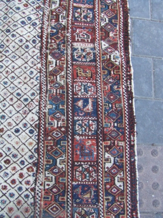 Southern Iran, Arab Laberduni kilim,Size:226x177-cm / 88.9x69.6-inches
