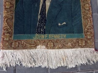 Persian Tabriz rug ,John f Kennedy size:58x46-cm  ask