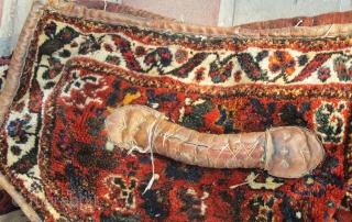 Antique Luri Mafrash with leather belts.   P.O.R