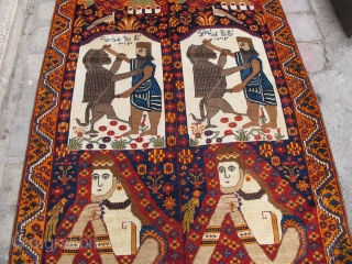 Old Qashqaee pure wool rug   Size:250x147cm  P.O.R