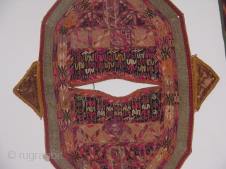 This turkmen child kirlik is an hand stitched silk on cotton in a fair condition the wear on some spots shows that it was used by a very active child for a long  ...