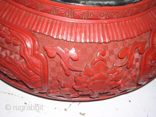 This is an old chinese jar with the lid called 1000 codes is in a very good condition for it's age couple of dents on the lid wich is visible in the  ...