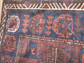 This is an early beluch bagface with all natural colors in very good condition for its age