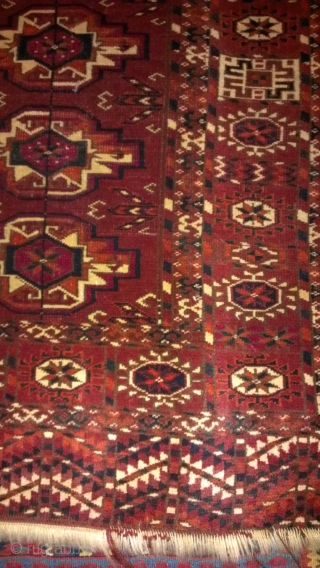 Turkmen old approximately 3x5 full pile no repair good coller's