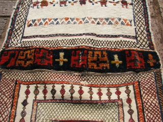 Nice old shahsavan bag wool and cotton on wool warp nice good old piece if you put it together it can make a good pillow or i can put it together for  ...