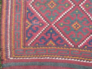 The uzbek khorjin panel that you are looking at is almost in a perfect condition, It definitely needs a good hand wash as you see the colors are beautiful.
