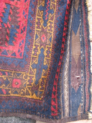 Here is an old beluchi prayer rug very soft shiny wool