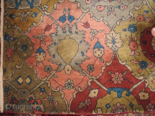 Old persian rug fragment with all natural colors and full pile,for sure over century old and long time ago its been turned to a runner