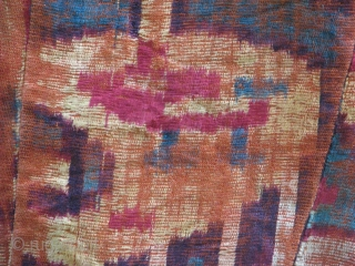 This is an old ikat velvet fragment that it's been made as a pillow cover i believe it should be  1800's