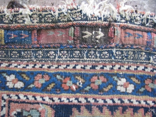 This is an afshar bag with nice colors in a good condition for its age