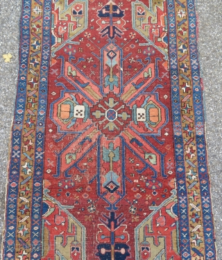 Antique Heriz Karadjeh runner  103 x 427 cm  To EU shipping from France: no custom charges