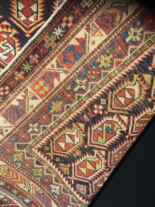 Antique marasali prayer rug, vibrant color,