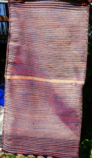 Complete Luri-Bakhtiari khorjin in very good condition, complete with plain-weave back in narrow horizonal bands of colour - see photos. Size: 42 inches x 21 inches 107cm x 53cm  Shipping is included in  ...