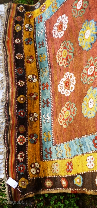 """This rare rug made in a village in the Çal region of South West Anatolia used to serve as a sleeping rug and is thus a """"yatak"""".   The very coarse wool weave  ..."""