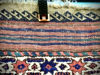 Old Baluch rug, possibly Khorasan. Lovely palette of natural colours including vivid greens and blues. Wonderfully soft wool and original sides and ends. Minor re-piling and repairs in one or two small  ...