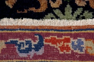 "Unusual Tibetan ""prayer rug"" with Angeli Bode design. 1930 ca. Cotton foundation.Perfect condition. cm 160x95. for more pictures please ask."