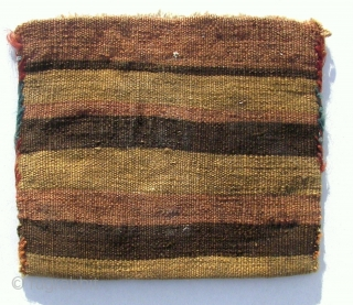 Tobre, Shasavan .Wool on wool and cotton.  Old. Fine wefts. Small. 25 x 17 cm. Enjoy. !