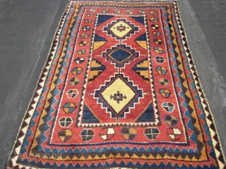 Luri, ( It is my idea..) or Quashqai or Bachtiar Gabbeh, Gava, Ca.1910.. Lush and big glossy wool , good colors, some goat hair in the warps , also the use of  ...