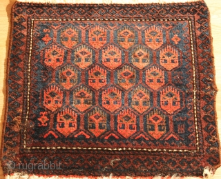 Baluch  bagface  Very fine  Natural colors  19th Century  Clean and hand washed