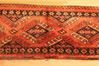 TURKMEN Penjerelik . turkman hung on the door of the house yoruk . Natural color .  19th Century .  Good Condition . Clean and hand washed .  size 1.40cm x  ...
