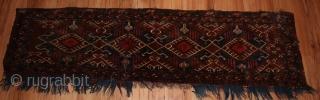 Antiek Turkmen Torba Fragment size 1.40cm x 0.38cm