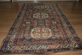 Caucasian Shirvan rug.circa 1870 . size 1.60cm x 0.97cm