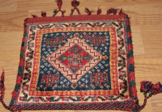 Very fine  persian  bagface Natural colors Good Condition  19th Century Clean and hand washed size 0.30cm x 0.32cm