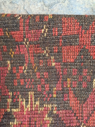 "Ersari Beshir torba face 5'3"" X 1'6"". Circa 1900. Natural colors with beautiful red and green. Goat hair warps. Excellent condition."