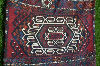 "East Anatolian flat woven (kilim)  heybe, Malataya-Sinan, 5'4"" X 2' 6-1/2"". Circa 1900. Wool and cotton, Circa 1900. Natural dyes. Near perfect condition. Exquisite workmanship."