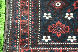 """Rare complete antique Baluch pile khorjin, 68"""" X 31"""". Circa 1910. All wool. Mina khani design.  All natural dyes with several shades of blue. Overall excellent condition with full pile faces.  ..."""
