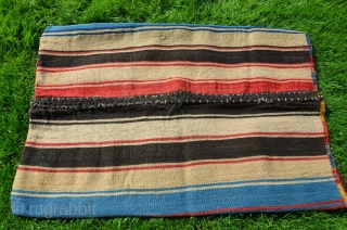 "Antique Anatolian weftless sumac a la çuval (Turkman), Adana-Taurus. 19th C. 40"" X 28-1/2"". Beautiful natural dyes. Plainwoven striped back. Complete and in fine condition. Rare collectors piece."