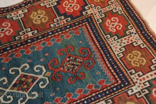 Moghan carpet, 19th century, extremely beautiful and very antique item  approx. 203 x 120 cm  Very beautiful and antique Moghan with beautiful colours and very nice iconography.   Some old repairs. Full pile  Collector's item!  Certificate