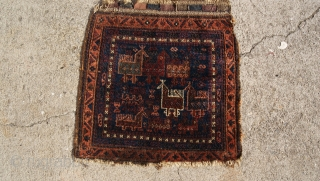 Late 19th century Baluch bird bag good condition and very good colors.