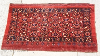 19th century Ersari chuval with slik.