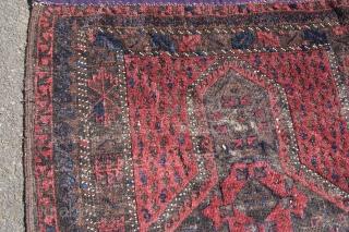 antique baluch prayer rug.