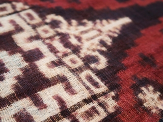 Balinese Double Ikat Textile (Geringsing), uncut warp 