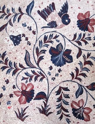 Java   Early 20th C Hand-Drawn Batik Breast Wrapper (Kemben)  Indonesia Java, Banyumas, 1920 – 1940  Commercial cotton, natural dyes, hand-drawn batik (tulis)  A graphic breast wrapper (kemben) hand-drawn with a distinctive batik pattern in  ...