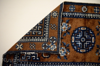 Small format rug from inner Mongolia. Circa 1900, In very good condition. 126cm x 59cm