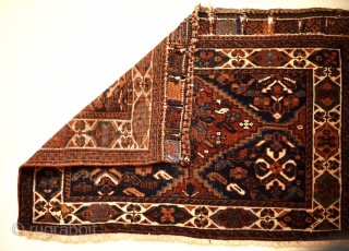 Late 19th century Afshar saddle bag set. 80cm x 55cm (each piece)