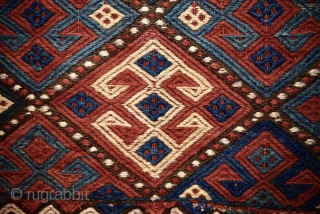 Late 19th century Karabagh soumak mafrash. 118cm x 110 cm. All natural colors.